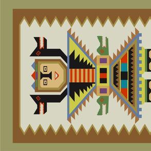 Inca God Tea Towel 18x27