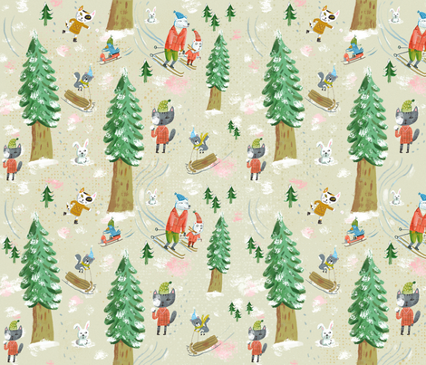 Snow Day fabric by skbird on Spoonflower - custom fabric