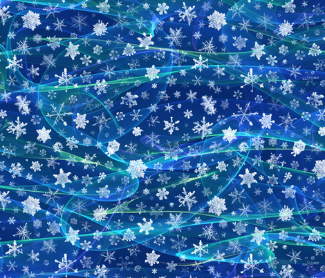 snow on a windy night (large snowflakes) fabric by weavingmajor on Spoonflower - custom fabric