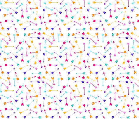 Watercolour Arrows fabric by emeryallardsmith on Spoonflower - custom fabric
