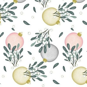 Silver and Gold Mistletoe Holiday