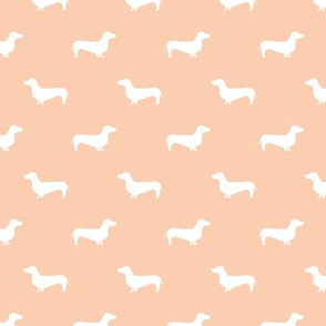 apricot dachshund silhouette fabric doxie design dachshunds fabric