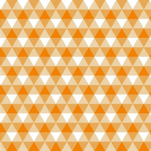 butterfly orange triangle gingham