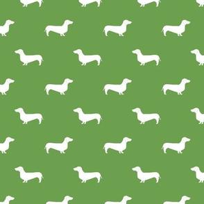 asparagus green dachshund silhouette fabric doxie design dachshunds fabric