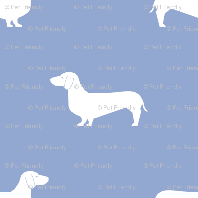 cerulean dachshund silhouette fabric doxie design dachshunds fabric