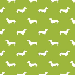 lime green dachshund silhouette fabric doxie design dachshunds fabric