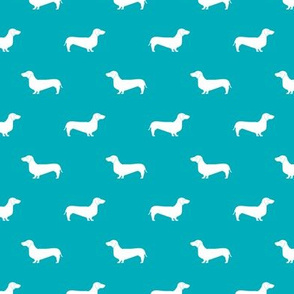peacock blue dachshund silhouette fabric doxie design dachshunds fabric