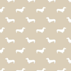 sand dachshund silhouette fabric doxie design dachshunds fabric