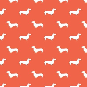 scarlet red dachshund silhouette fabric doxie design dachshunds fabric