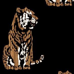 Scratchboard Zebrawood Tiger