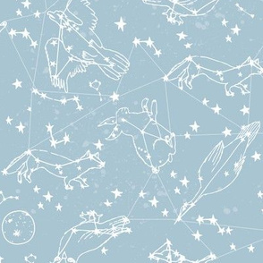constellations // blue nursery baby fabric nursery design constellations blue fabric