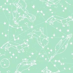 constellations // mint nursery baby fabric baby animals design andrea lauren fabric