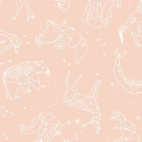 constellations // geometric animals nursery fabric blush stars animals nursery design by andrea lauren