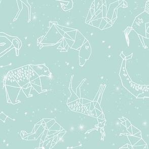 constellations // geometric nursery baby design soft blue constellations stars fabric andrea lauren design