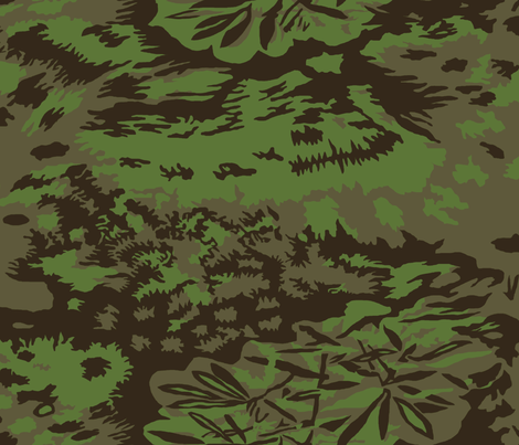 Palm Jungle Camo fabric by ricraynor on Spoonflower - custom fabric