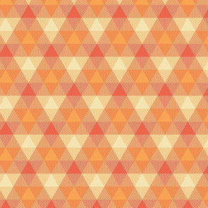 triangle gingham - creamsicle