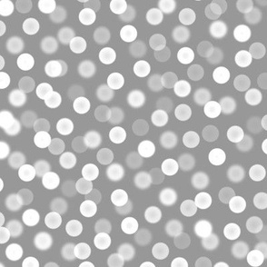 bokeh polka dot Christmas lights - silver small