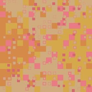tiny squares rose gold