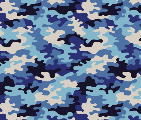 camo (blue) fabric by analinea on Spoonflower - custom fabric