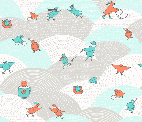 SnowDay fabric by allaroundquilter on Spoonflower - custom fabric