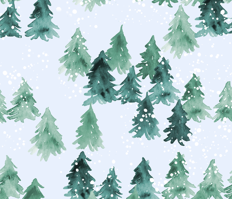 Chalet_View_(Larger Scale) fabric by joy&ink on Spoonflower - custom fabric