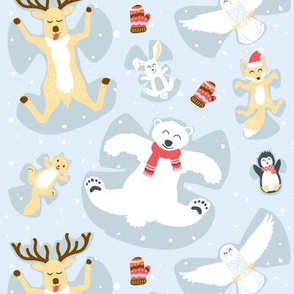 Animal Friend Snow Angels