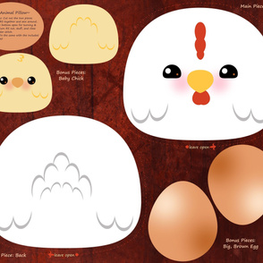 Cut-and-Sew Chicken Pillow