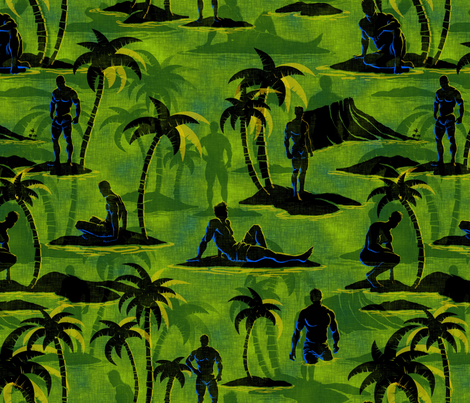 Paradise - jungle fabric by thecalvarium on Spoonflower - custom fabric