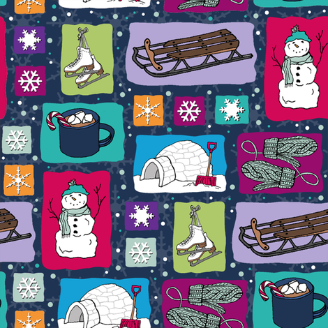 My_Favorite_Winter_Things fabric by brittany_vogt on Spoonflower - custom fabric
