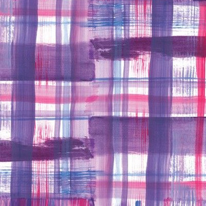 Painterly Plaid: Purple