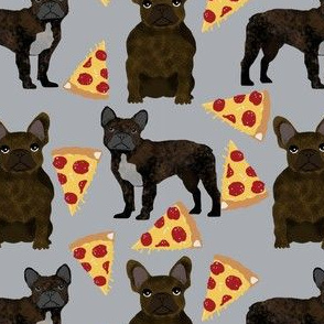 french bulldog pizza fabric brindle fabric pizzas frenchie dog