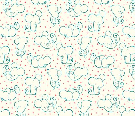 Inky Mouse Nursery fabric by phirefly_print on Spoonflower - custom fabric