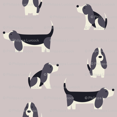 Winter Basset Hounds