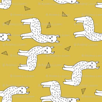 alpaca // railroad alpaca llama design andrea lauren fabric