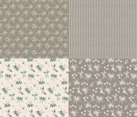 "Rustic Wedding 42"" Fat Quarters Taupe_Miss Chiff Designs fabric by misschiffdesigns on Spoonflower - custom fabric"