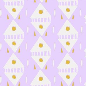cut paper - lavender & gold