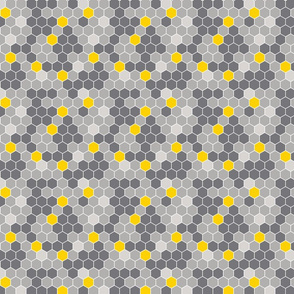 Honeycomb Pattern Gray Filled 1