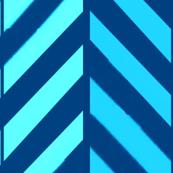 Aqua Teal Herringbone Chevron