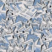 Magazines blue