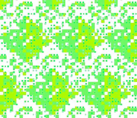 tiny squares greens on white fabric by dandelion_design on Spoonflower - custom fabric