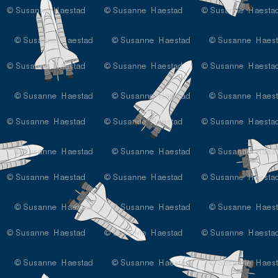 space shuttles on blue