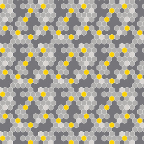 Honeycomb Pattern Shades of Gray Open 1