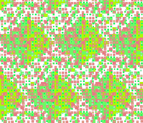 tiny squares greens + cherry fabric by dandelion_design on Spoonflower - custom fabric