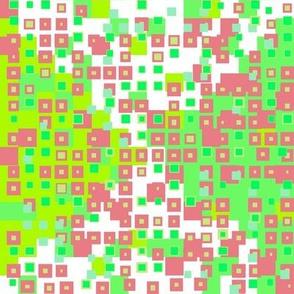 tiny squares greens + cherry