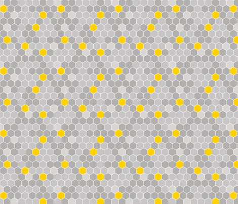 Honeycomb Pattern Gray 2 fabric by monicadowns on Spoonflower - custom fabric