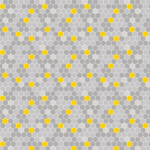 Honeycomb Pattern Gray 2