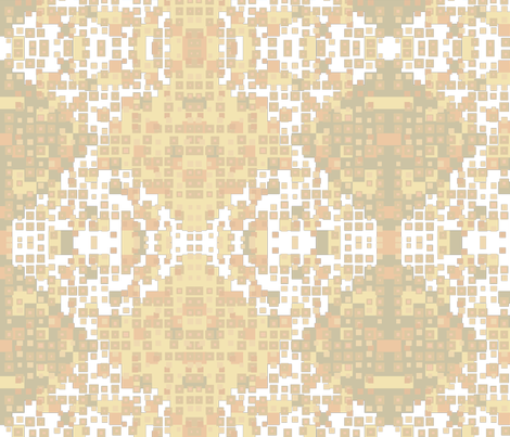tiny squares ginger + nectar on white fabric by dandelion_design on Spoonflower - custom fabric