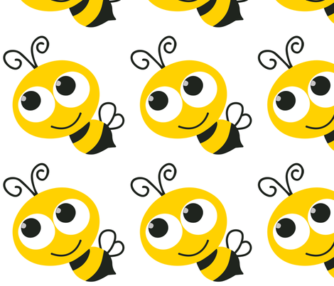 Bee_8_Inch_Front fabric by monicadowns on Spoonflower - custom fabric