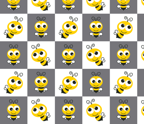 Bee_Block fabric by monicadowns on Spoonflower - custom fabric
