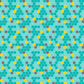 Honeycomb_Pattern_Small_no_Bees_Teal_on_Teal